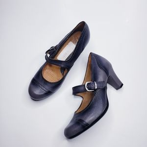 Nurture Rhea Gray Ombre Maryjane Leather Heels